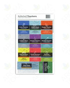 "Rollerball ""Teachers"" Assorted Label Set (Sheet of 11)"