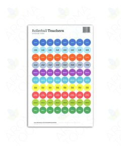 "Rollerball ""Teachers"" Sticker Tops Set (Sheet of 88)"