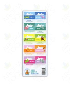 """Baby Bottles"" Waterproof Labels (Sheet of 10)"