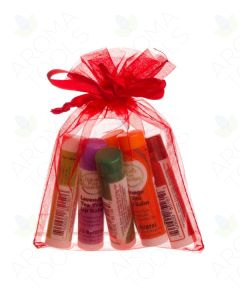 Red Lip Balm Gift Set (Set of 6)