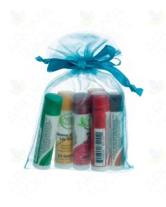 Mint Blue Lip Balm Gift Set (Set of 6)