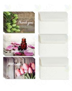 Assorted Greeting Cards and Envelopes (Set of 12)
