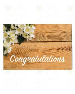 """""""Congratulations"""" Floral Greeting Cards (Pack of 12)"""