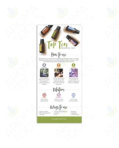 """Top 10 Essential Oils"" Reference Cards (Pack of 25)"