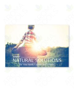 """Natural Solutions for Your Family's Health"" Postcard Invitations (Pack of 25)"