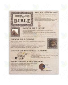 """Essential Oils of the Bible"" Tear Pad (50 Sheets)"