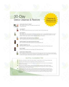 """30-Day Detox, Cleanse, and Restore"" Tear Pad (50 Sheets)"