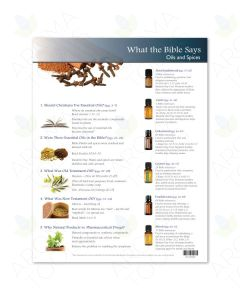"""What the Bible Says: Oils and Spices"" Tear Pad (50 Sheets)"