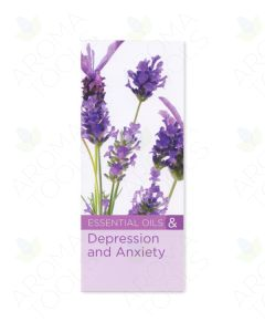 """""""8 Benefits of Essential Oils for Depression and Anxiety"""" Brochure (Pack of 20)"""