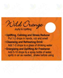 Wild Orange Oil Tips Cards (Sheet of 12)