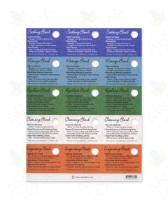 Oil Tips Card Set of Blends for Aromatics (Sheet of 15)