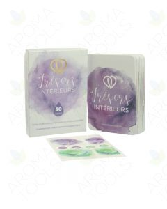 "French ""Treasures Within"" Emotions and Essential Oil Affirmation Cards and Bottle Labels"