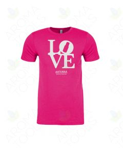 "Women's Raspberry Pink ""Love doTERRA"" Short-Sleeve T-Shirt"