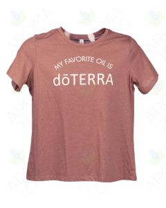 "Women's Heathered Mauve ""My Favorite Oil is doTERRA"" Short-Sleeve Shirt"