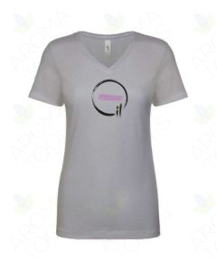 "Women's Heathered Gray ""Essential Oil"" V-Neck Short-Sleeve Shirt"