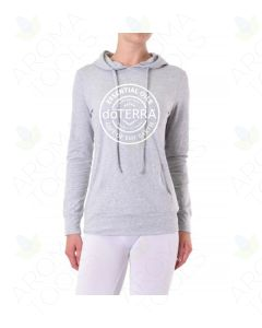 Women's Heathered Gray doTERRA Seal Thin Pullover Hoodie