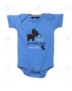 "Heathered Columbia Blue ""Anti-Aging"" Baby Short-Sleeve Onesie"