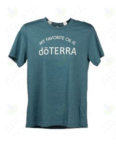 "Unisex Heathered Teal ""My Favorite Oil is doTERRA"" Short-Sleeve Shirt"