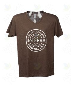 Unisex Espresso doTERRA Seal V-Neck Short-Sleeve Shirt