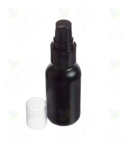 1 oz. Black Glass Bottles with Black Treatment Pumps (Pack of 6)