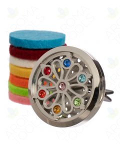 Chakra Stainless Steel Car Diffuser