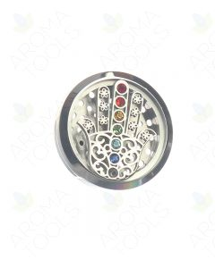 Chakra Hamsa Hand Stainless Steel Car Diffuser