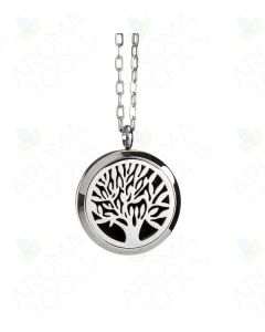 Large Stainless Steel, Tree of Life Locket Diffusing Necklace