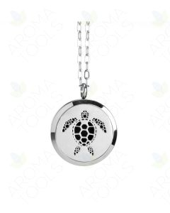 Stainless Steel, Sea Turtle Locket Diffusing Necklace