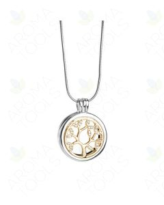 2-Tone Tree of Life Diffusing Locket