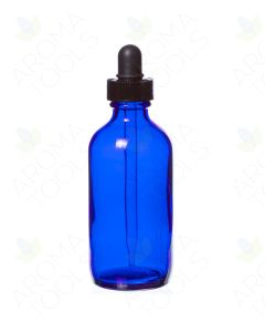 4 oz. Blue Glass Bottle with Dropper Cap