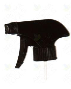 Black Trigger Sprayer for 8, 16, and 32 oz. Glass Bottles (28-400 Neck Size)