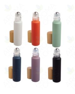1/3 oz. Complete Matte Collection Glass Bottles with Metal Roll-ons and Gold Caps (Pack of 6)