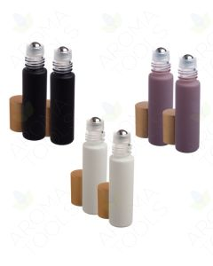 1/3 oz. Gift of the Earth Matte Collection Glass Bottles with Metal Roll-ons and Gold Caps (Pack of 6)