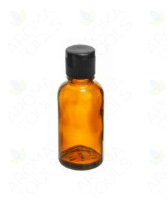 30 ml Amber Glass Vials with Black Snap-Top Caps (Pack of 6)