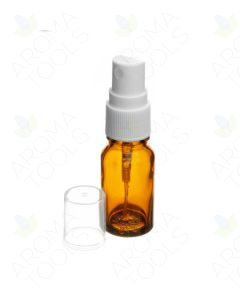 10 ml Amber Glass Vials with White Misting Sprayers (Pack of 6)