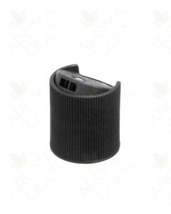 Black Disc-top Cap for 1, 2, and 4 oz. Plastic Bottles, 20-410 Neck Size
