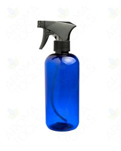 16 oz. Blue Plastic Bottle with Black Trigger Sprayer