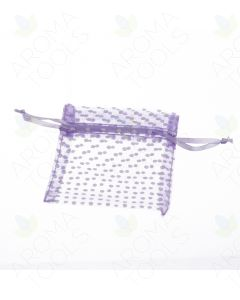 Purple Polka Dot Organza Gift Bags (Pack of 10)