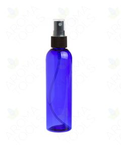 4 oz. Blue Plastic Bottle with Black Misting Sprayer