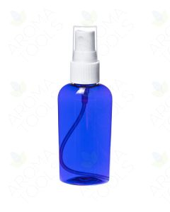 2 oz. Blue Plastic Oval Bottle with White Misting Sprayer
