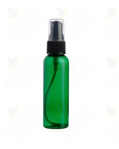 2 oz. Green Plastic Bottle with Black Misting Sprayer