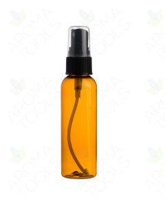 2 oz. Amber Plastic Bottle with Black Misting Sprayer