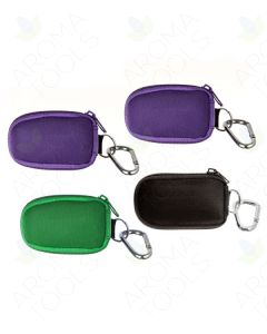 4 Assorted Aroma Ready Key Chain Case with 8 Sample Vials (5/8 Dram)