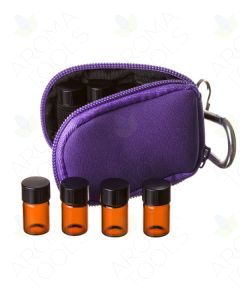Aroma Ready Key Chain Case with 8 Sample Vials (5/8 Dram)
