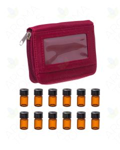 Red Sample Case with 12 Sample Vials (5/8 Dram)
