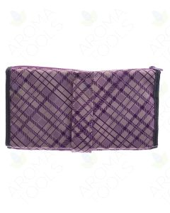 Purple Plaid Folding Pill Wallet (Includes Pill Bags)