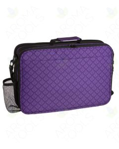 Purple Floral Aroma Ready Deluxe Foam Case (Holds 79 Vials)