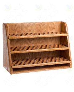 Premium 3-Shelf, Handcrafted Oak Storage and Display Rack (Holds 151 vials)