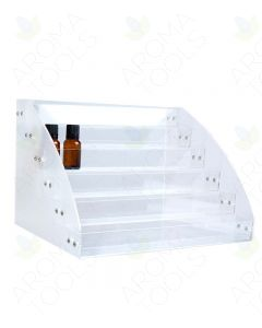 6-Tier Clear Plastic Display Riser (Holds 72 Vials)
