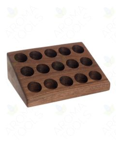 3-Tier Walnut Display Riser (Holds 15 Vials)